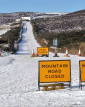 The Mountain Road is Closed (C) Andy Stephenson - Geograph - 1654854.jpg