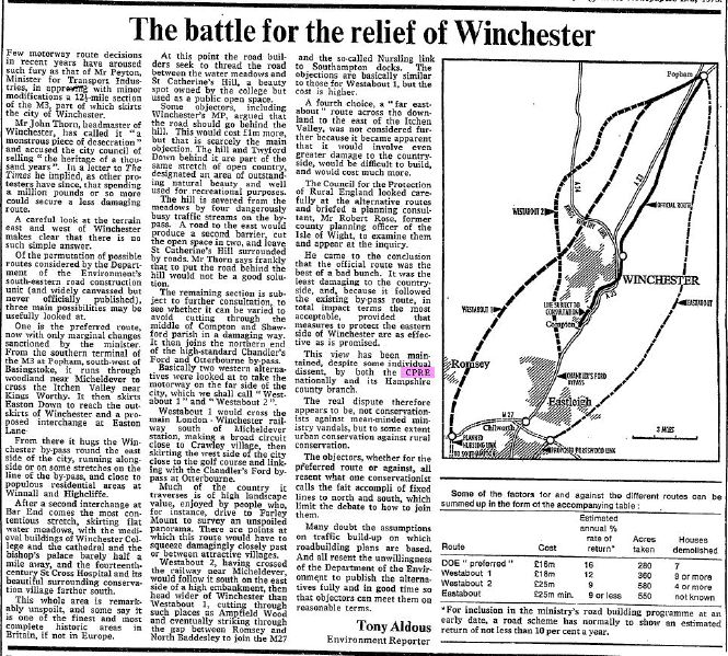 File:Winchester Bypass article from The Times of Wednesday, March 7th, 1973 - Coppermine - 15116.JPG