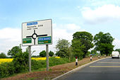 M6 signs on the A519 - Geograph - 803466.jpg