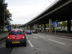 Junction 2 on the M32, near Eastville, Bristol - Geograph - 2136987.jpg