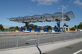 Tamar Bridge toll booths and canopy - Geograph - 206735.jpg