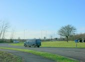 2009 - Roundabout at the eastern end of the Melksham bypass (3) - Geograph - 1135567.jpg