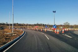 New roundabout on A5, Weedon - Geograph - 5647524.jpg