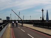 Cycle superhighway, Blackfriars Bridge ramp - Geograph - 5139639.jpg