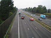 M3 Motorway between Junctions 4 and 4a - Geograph - 576811.jpg