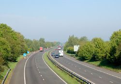 M45 motorway at Dunchurch - Geograph - 1286639.jpg