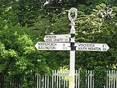 Old road signs in Sutton Scotney - Coppermine - 13960.jpg