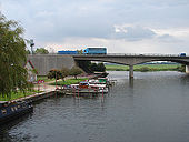The River Great Ouse and the A14 road bridge - Geograph - 1020675.jpg