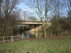 Flooded Jurassic Way beneath the A47 (C) Tim Heaton - Geograph - 1723187.jpg