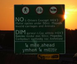 A55 Secret Motorway restrictions at Llanddulas - Coppermine - 7708.jpg