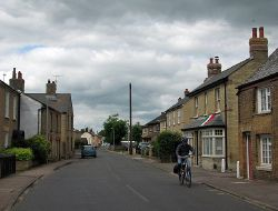 Cottenham- Italian flag on Denmark Road - Geograph - 3010213.jpg