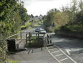 B3355 looking south crossing Thicketmead Bridge - Geograph - 1538947.jpg