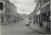 Looking up High Street towards the library, 1960s.jpg