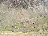 Llanberis Pass from the Lip of Cwm Glas Mawr - Geograph - 224637.jpg