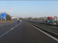M6 Motorway at junction 14 - Geograph - 2244667.jpg