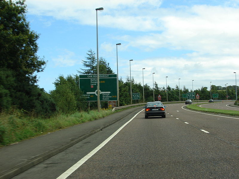 File:A515 Foyle Bridge Approach - Coppermine - 15747.jpg