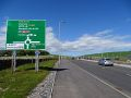 A90 Stonehaven Junction - link road roundabout direction sign.jpg