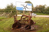 Abandoned farm implement by A38 - Geograph - 1053135.jpg