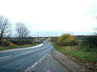 The A635, Junction 37 with the A1(M) - Geograph - 282379.jpg