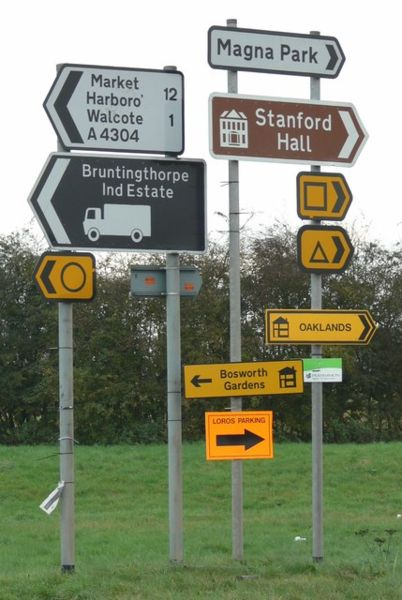 File:A forest of signs - Geograph - 607449.jpg