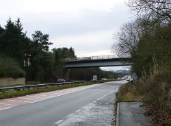 The A697 joins the A1 - Geograph - 4281378.jpg