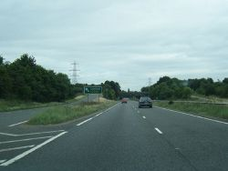 A5148 at Lichfield exit slip (C) Colin Pyle - Geograph - 3694518.jpg