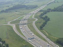 Junction 10 of the M1 at Slip End - Geograph - 3017397.jpg