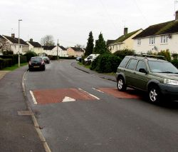 Park Road speed bumps, Stonehouse - Geograph - 4764713.jpg