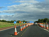Start of M2 SB contraflow between J5 and J4 - Coppermine - 14632.jpg