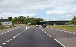 A30 junction for Cheriton Bishop - Geograph - 3656430.jpg
