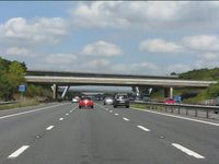 M5 Motorway - junction 11 bridges - Geograph - 2046370.jpg