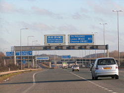 Junction 18A on the M5 northbound - Geograph - 1095108.jpg