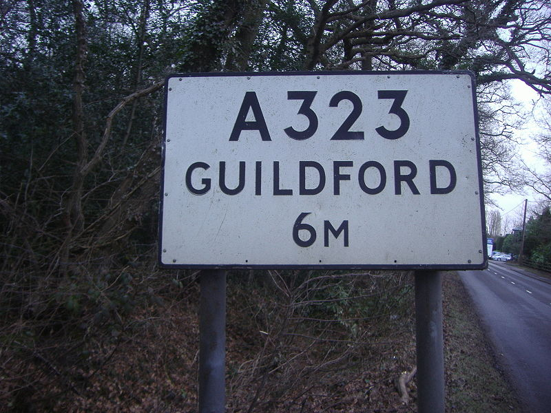 File:Old sign in Normandy, Surrey - Coppermine - 21413.JPG