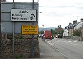 Zebra Crossing warning sign - Coppermine - 3414.jpg