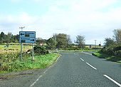 Junction of the B7084 with the A75 - Geograph - 1626920.jpg