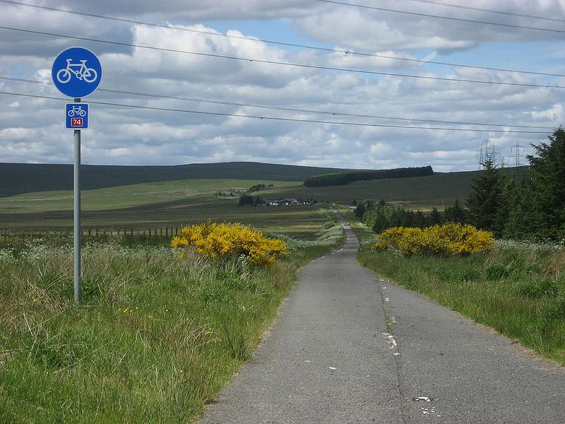 File:Cyclepath, B7078 (1960s A74). - Coppermine - 18615.JPG