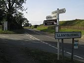Roadsigns at Llanyblodwel - Geograph - 559811.jpg