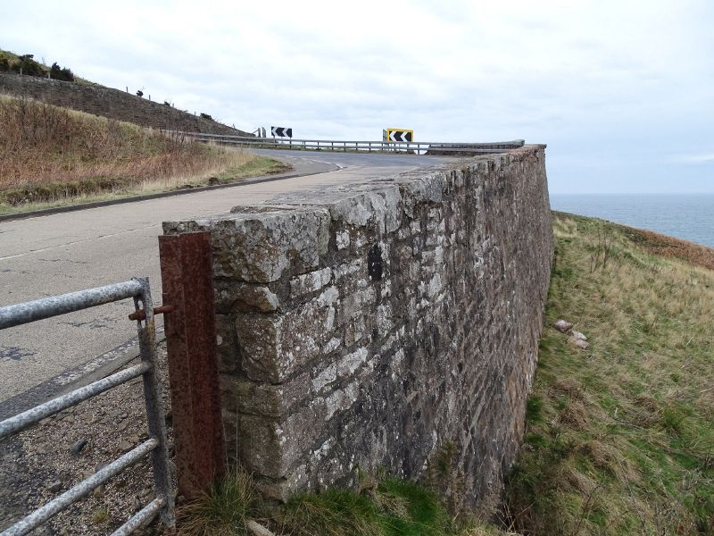 File:A9 Berriedale Braes Improvement - February 2019 hairpin retaining wall.jpg