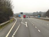 Eastbound M4, Exit Sliproad at Junction 14 - Geograph - 3415266.jpg