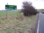 Signage old and new, Sixpenny Handley - Geograph - 1717984.jpg