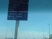 Close up of the Brussels sign on the E40 heading east from Calais - Coppermine - 5394.JPG