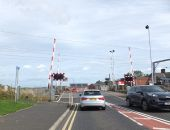 Level Crossing at Widdrington Station, Northumberland - Geograph - 5227062.jpg