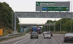 Exit for Cobham & Shorne - Geograph - 1490420.jpg