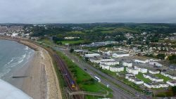 Road, rail and sea; from the air - Geograph - 3151543.jpg