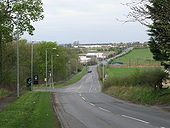 B7029 where it passes Dalziel Park - Geograph - 1276222.jpg