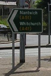 Sign at start of A51 in Chester - Coppermine - 22921.jpg