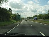 A45 Approaching Stivichall Interchange - Coppermine - 11766.jpg