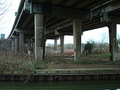 A34 Volvercote Viaduct underneath looking north - Coppermine - 16239.jpg