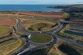 A90 AWPR - Stonehaven Junction - roundabout aerial from NW.jpg