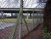 Gipping footpath and the elevated A1120 - Geograph - 1785326.jpg
